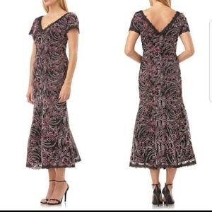 JS Collections Embroidered Mesh Dress SZ 2 or 12